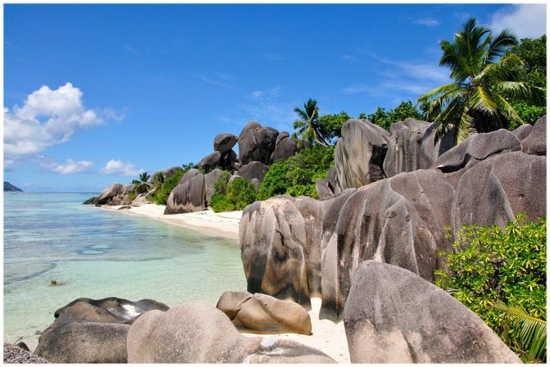 L'île de la Digue aux Seychelles