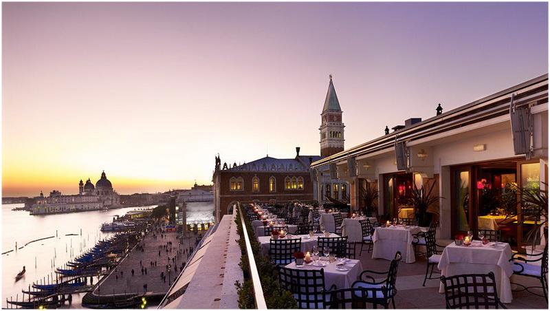 Hotel Danieli, Venise, Italie, Restaurant aux terrasse
