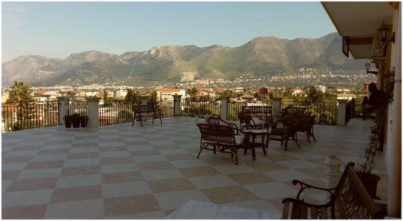 Hotel Rocca di Monreale, Palerme, Italie, Terrasse
