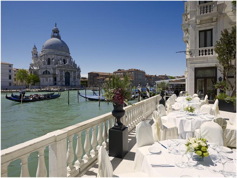 Hotel Westin Europa & Regina, Venise, Italie, terrasse su canal