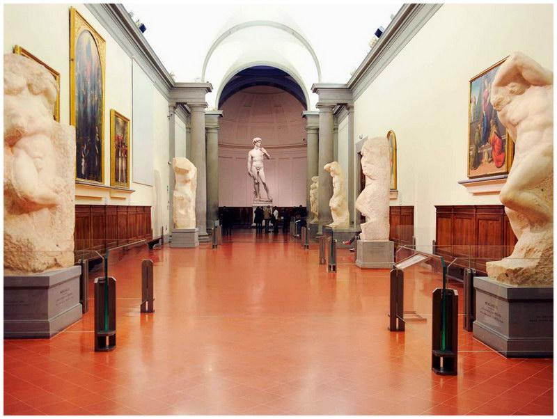 La Galerie de l'Académie de Florence (Italie)