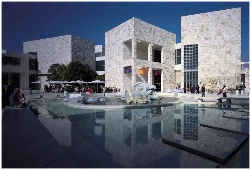 Le centre Getty à Los Angeles (Etats-Unis)