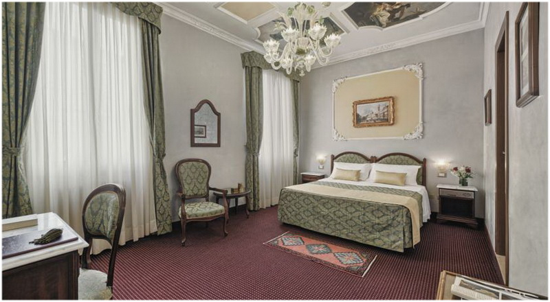 Hotel Pausania, Venise, Italie, Chambres