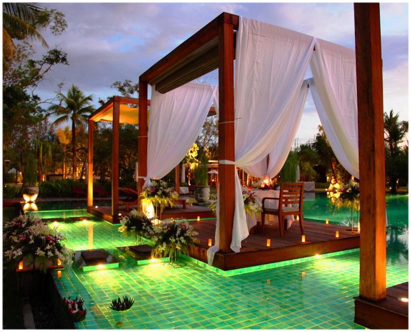 La piscine du Sarojin (Khao Lak, Thaïlande).