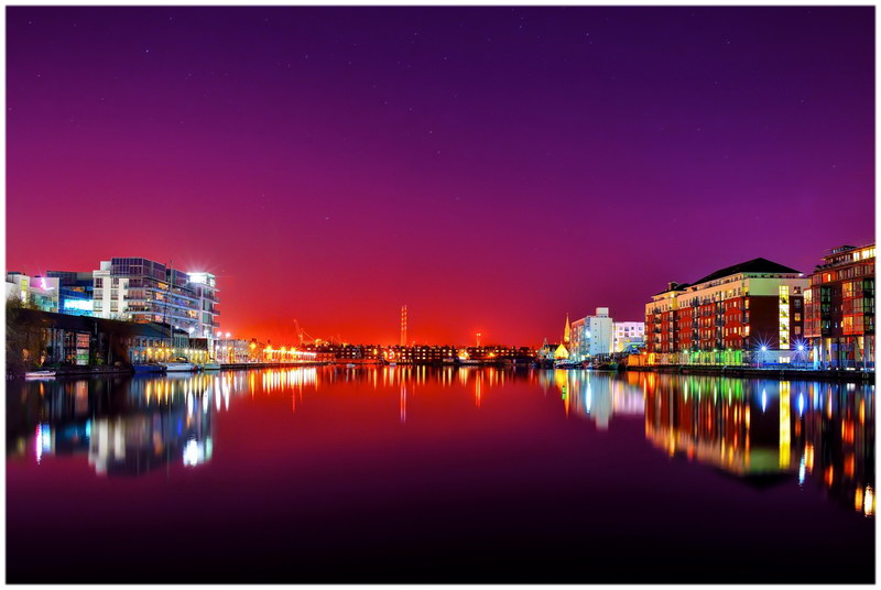 Dublin de nuit.
