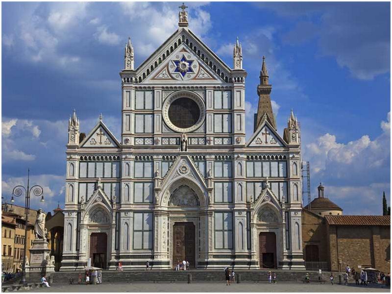 La Basilique de Santa Croce, Florence, Italie