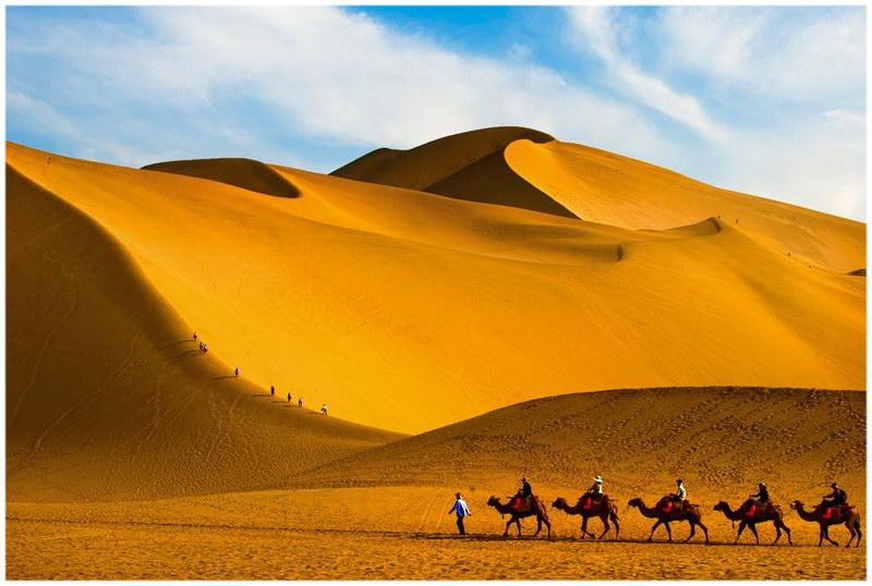La dune de Mingsha à Dunhuang