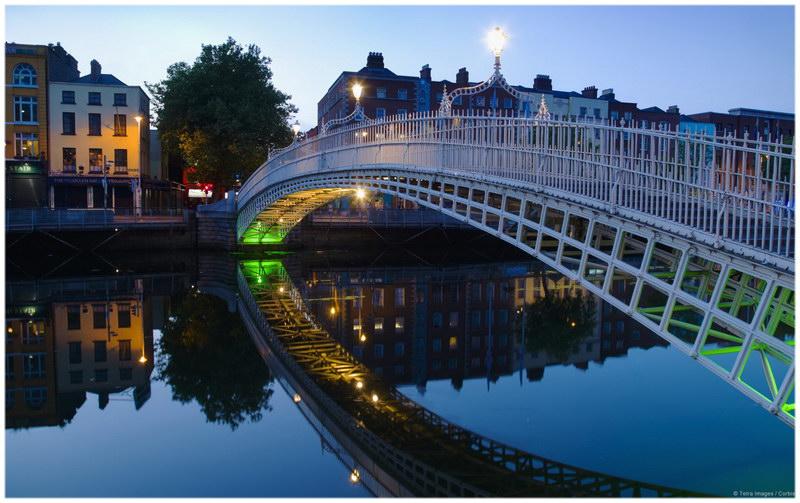 Le pont d'Ha'Penny à Dublin