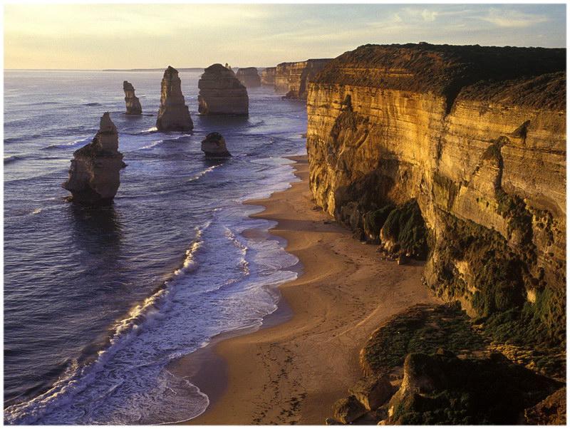 Les 12 apôtres en Australie.