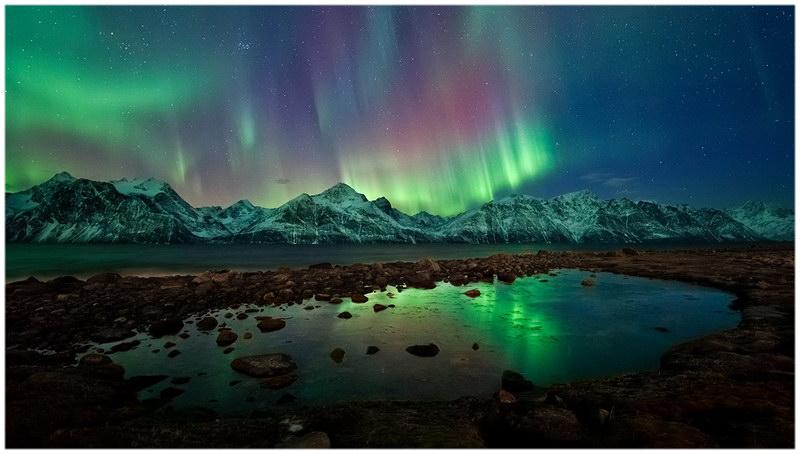 Les aurores boréales au Nord du pays