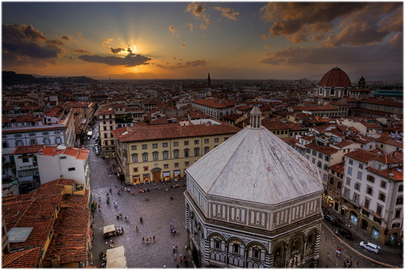 Piazza Del Duomo  Florence  Italie