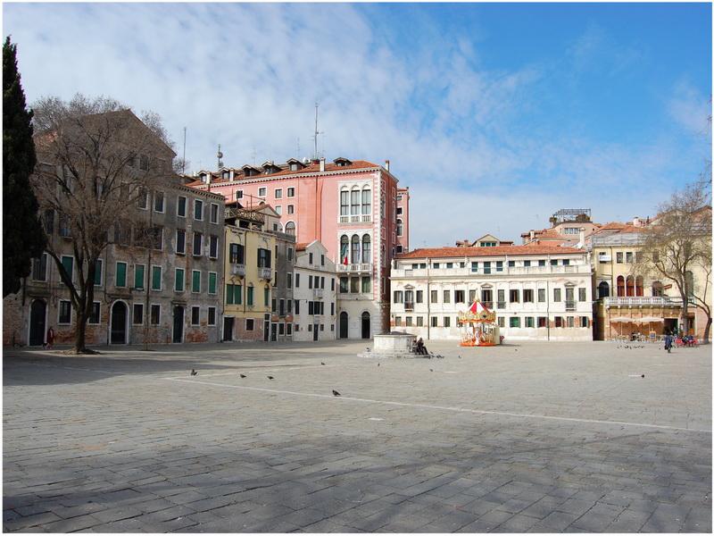 Campo San Polo, Venise, Italie