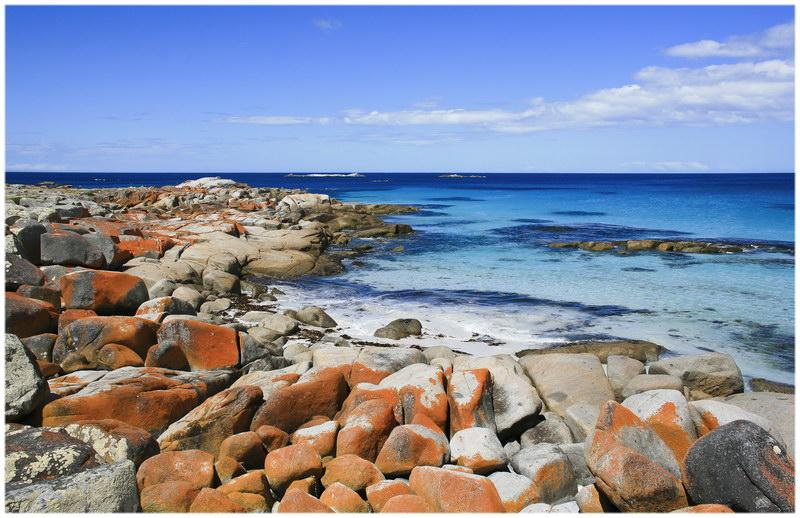 La Bay of Fires en Tasmanie, Australie