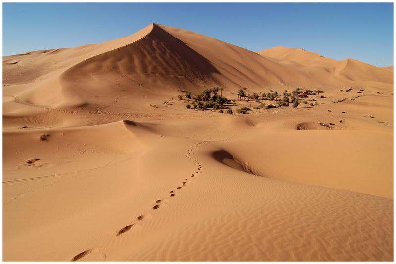 Les dunes de l'Erg Chebbi, au Maroc