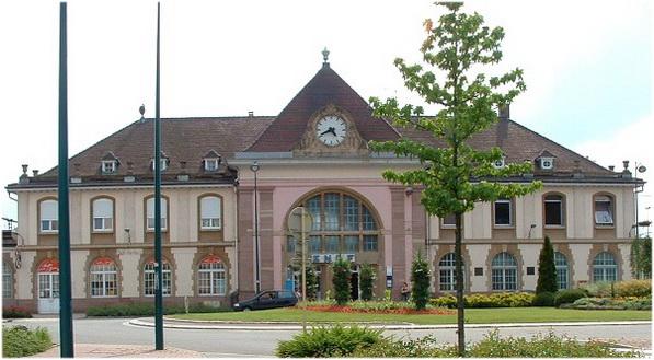 Saint-Louis,Haut-Rhin, Alsace, France, la gare