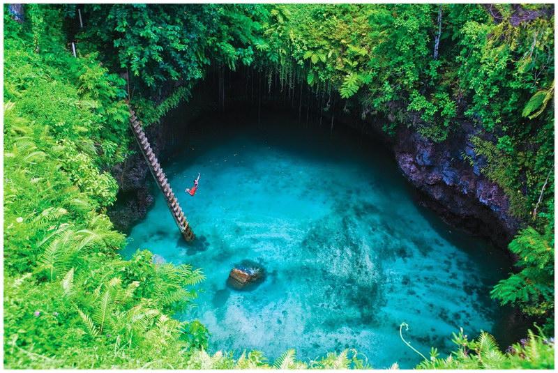 To Sua Ocean Trench aux Iles Samoa en Polynésie