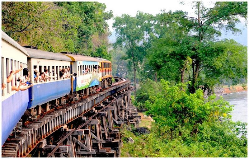 La voie ferrée de la mort, entre la Thaïlande et la Birmanie