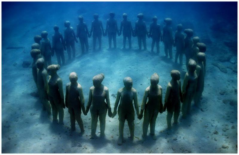 Le Musée des Arts sous-Marin de Cancun au Mexique