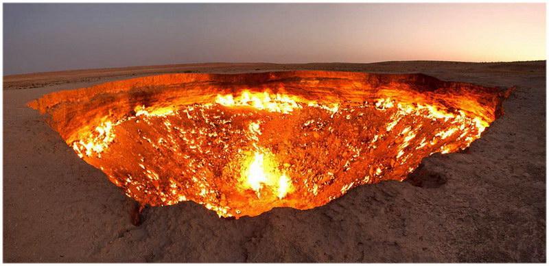 Le cratère de Darvaza au Turkménistan