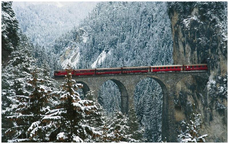 Le viaduc de Landwasser, en Suisse