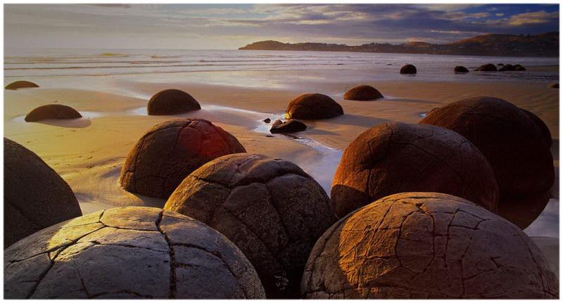 Les Moeraki Boulders en Nouvelle Zélande