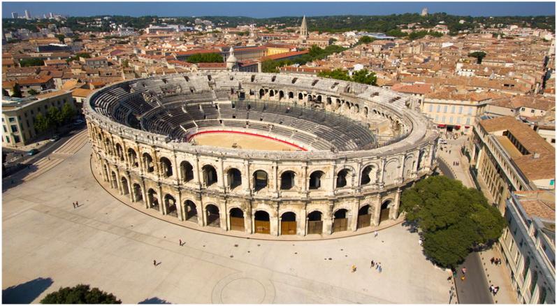 Nîmes,Gard, Languedoc-Roussillon,France, patrimoine histori