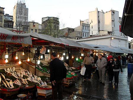 marché aux poissons de Galatasaray