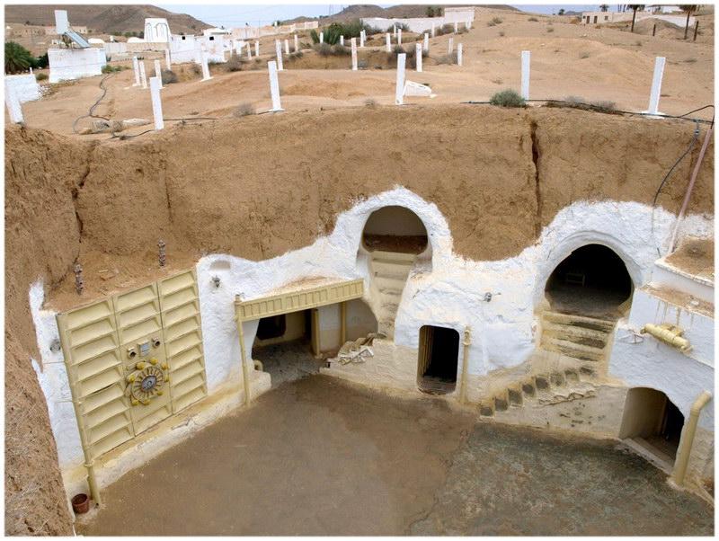 A Matmata, l'hôtel Sidi Driss