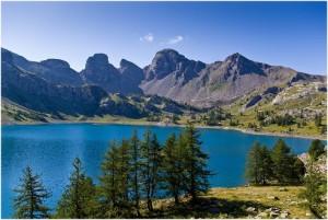 Alpes-de-Haute-Provence, Provence-Alpes-Cote d'Azur, France, lac