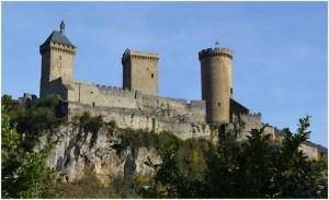 L'Ariege,Languedoc-Roussillon-Midi-Pyrenees, France, chateau