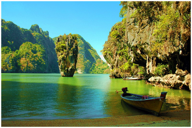 La baie de Phang Nga, en Thaïlande