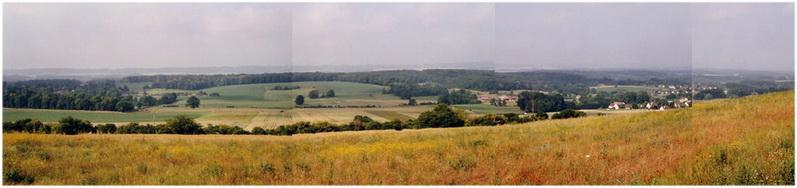 Le pays de Thelle, Oise, Picardie, France, limite du territoire