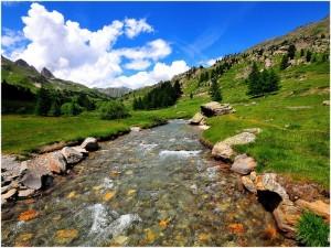 LesHautes-Alpes,Provence-Alpes-Cote d'Azur, France, hydrogra