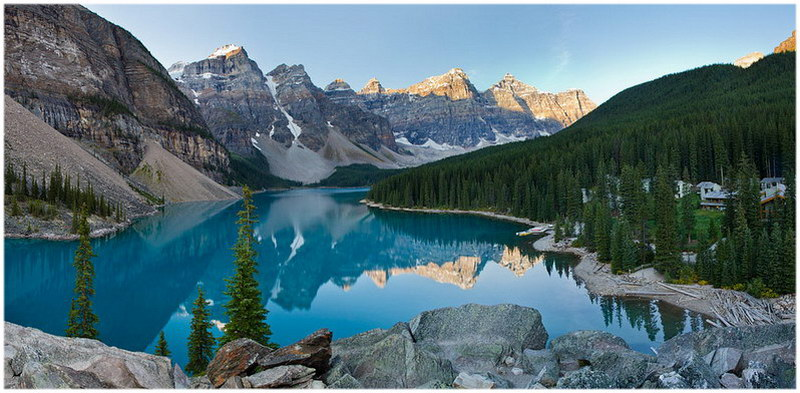 Les rocheuses canadiennes.