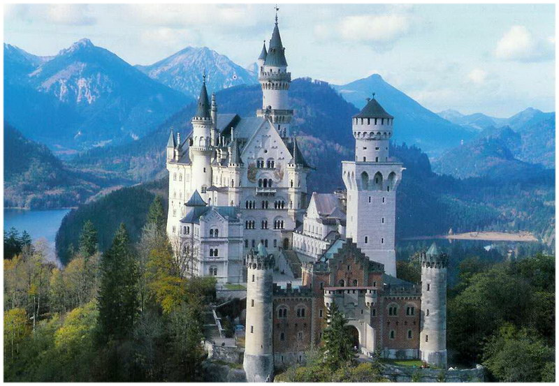 château de Neuschwanstein, en Bavière, en Allemagne
