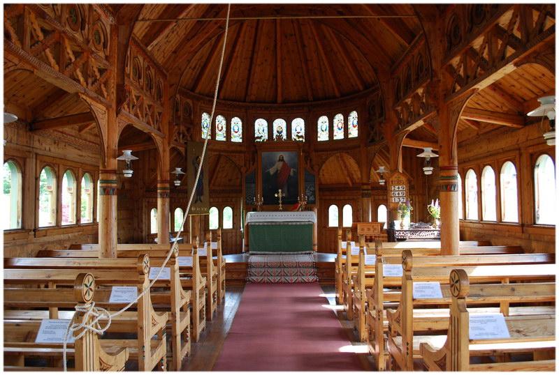 l'Église de Saint Olaf, à Balestrang, en Norvège.
