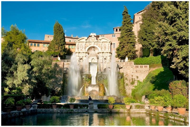 Jardins de la Villa d'Este à Tivoli (Italie)