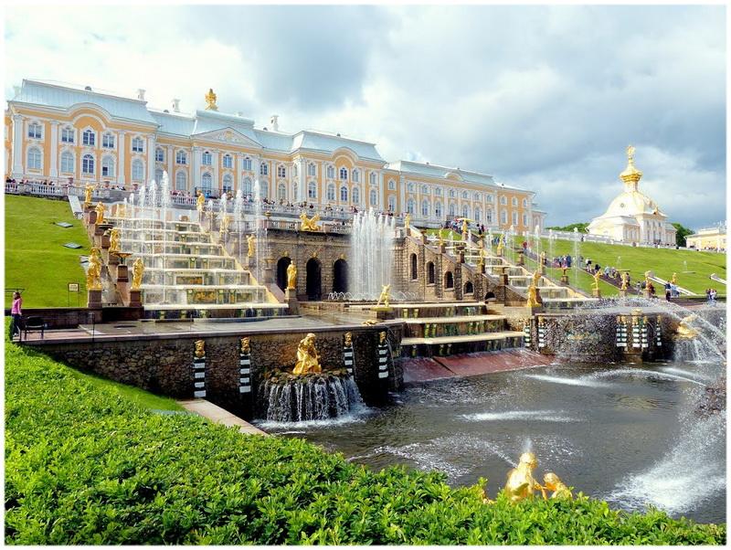 Jardins du Palais de Peterhof (Russie)