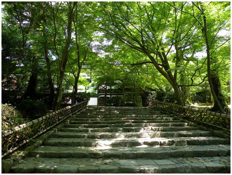 Jardins du temple Ryoan-ji à Kyoto (Japon)