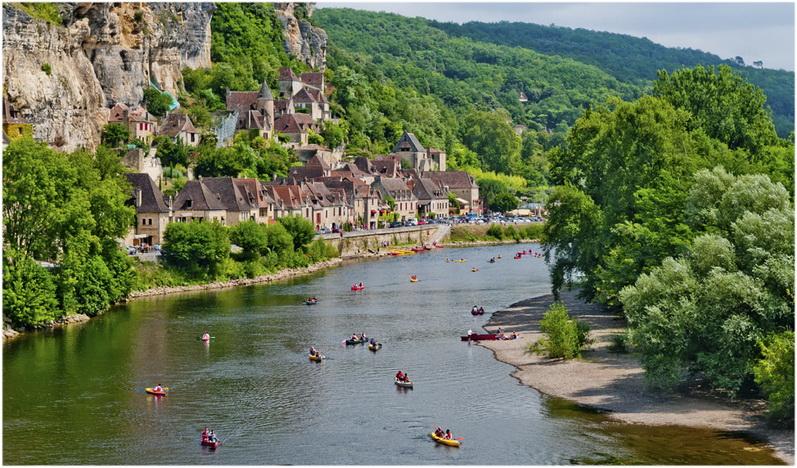 Le département de la Dordogne, France