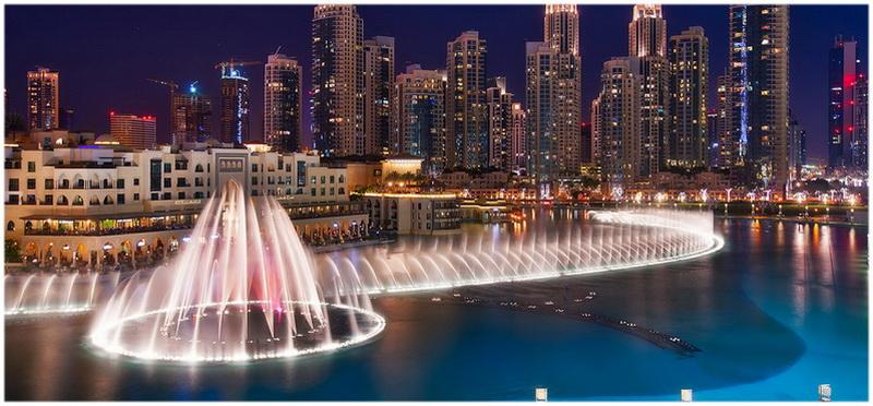 La fontaine de Dubaï