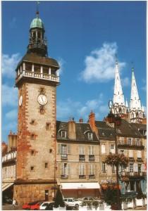 Moulins, Allier, Auver, tour de l'horlogegne-Rhone-Alpes, France