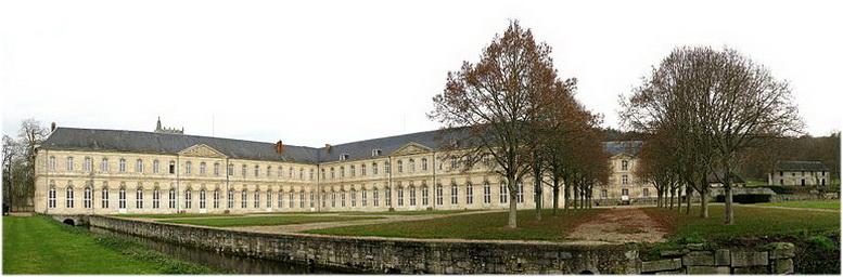 L'abbaye Notre-Dame du Bec, l'Eure, Normandie, France, faça