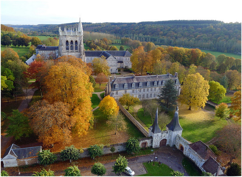 L'abbaye Notre-Dame du Bec, l'Eure, Normandie, France