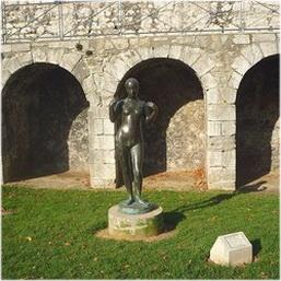 Lemusee de Grenoble, Grenoble, Isere, France, jardin de sculpt