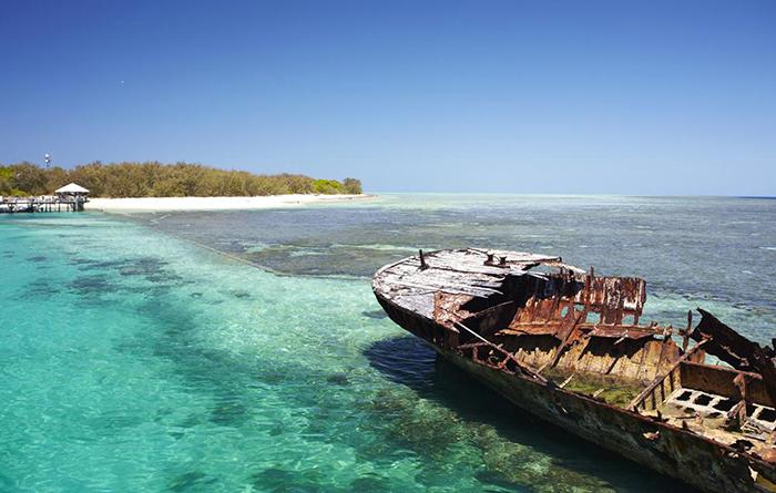 Île de lézard Grande barrière de corail, Australie
