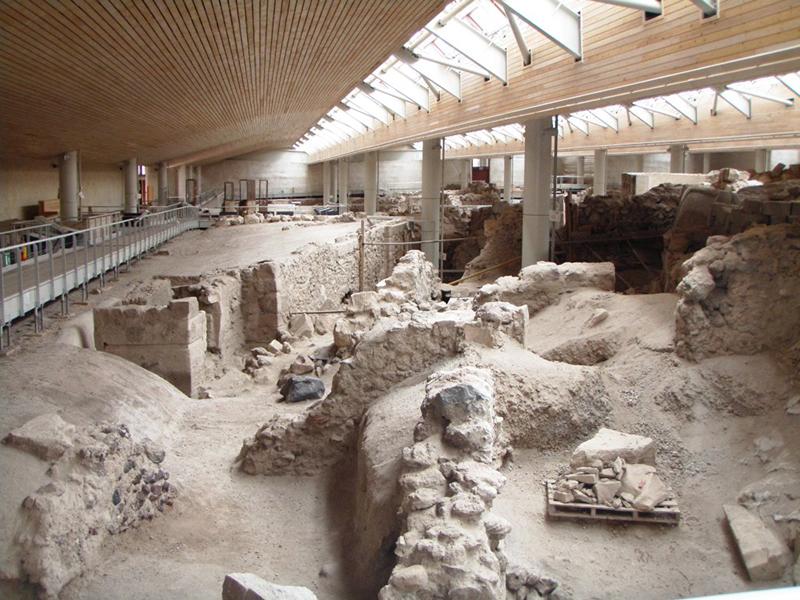 Le site archéologique Akrotiri à Santorin