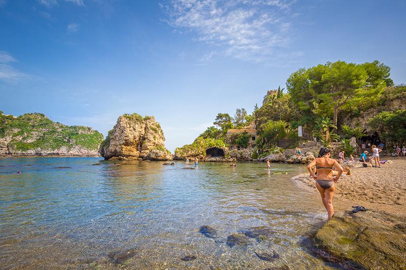 baignade à Taormina
