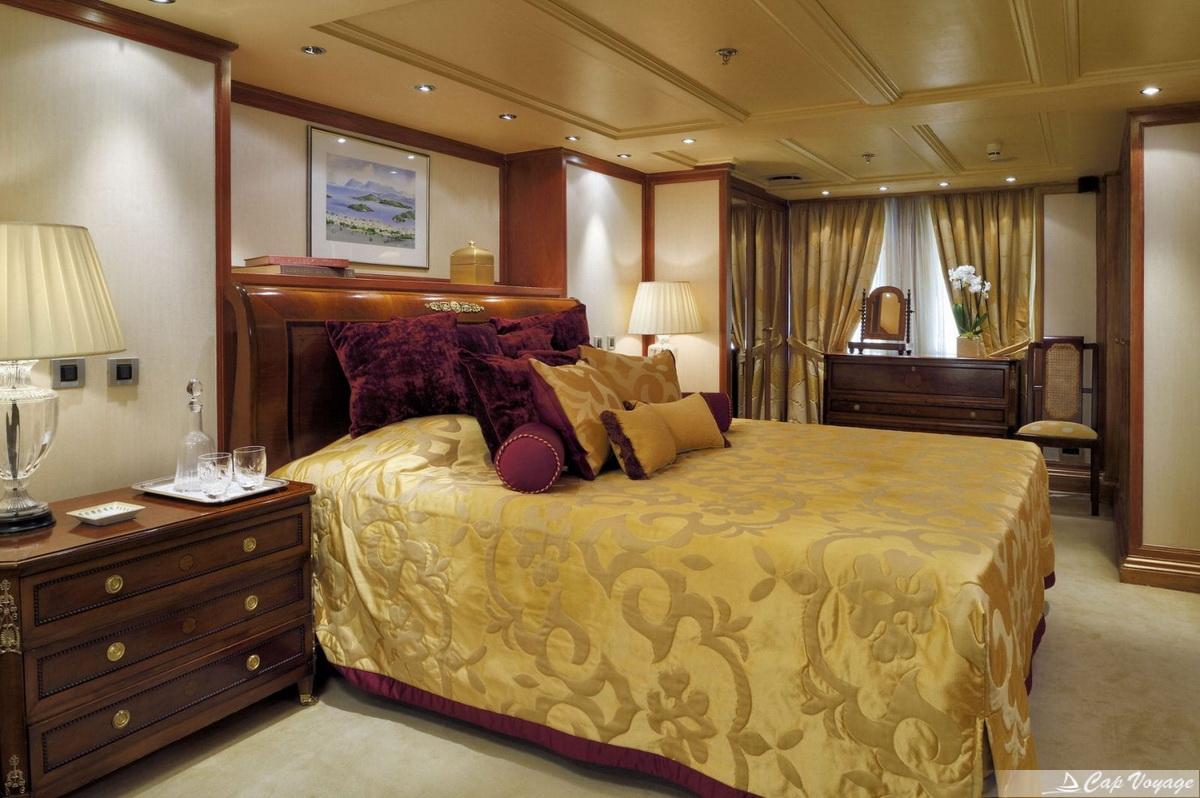 Le suite top VIP du Christina O Yacht location bateau