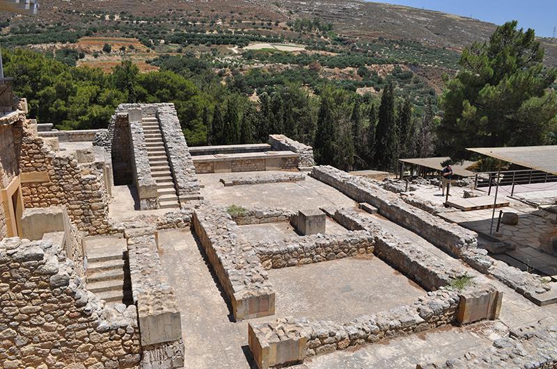 Le palais de Knossos près de la Crète, Grèce